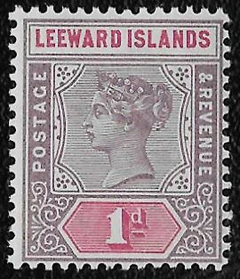 + 1890 Leeward Islands West Indies Colony Queen Victoria Bust #2 A1 1p MNH