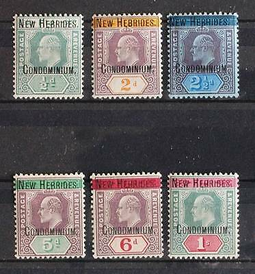 NEW HEBRIDES 1908/9, $1000, MH* Set on FIJI,  King Edward VII, Nouvelle-Hebrides