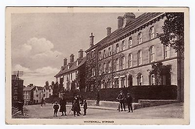 P3165 Original old postcard of Whitehall, Stroud, Gloucestershire