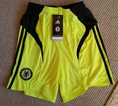 "Genuine Chelsea FC 30"" mens Small 14 15 + yrs football shorts junior boys girls"