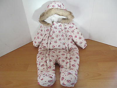 Baby Girls Snowsuit Coat F&f Age 0-3 Months Bnwt