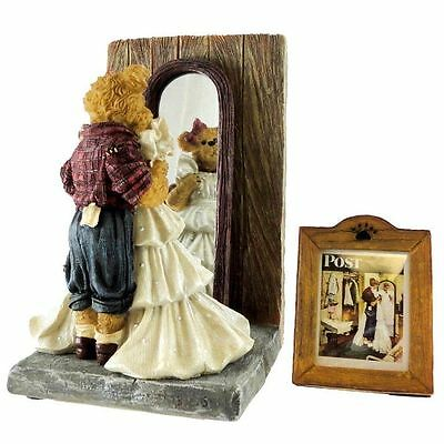 Enesco Norman Rockwell Boyds Bear Prom Dress Figurine New Saturday Evening Post