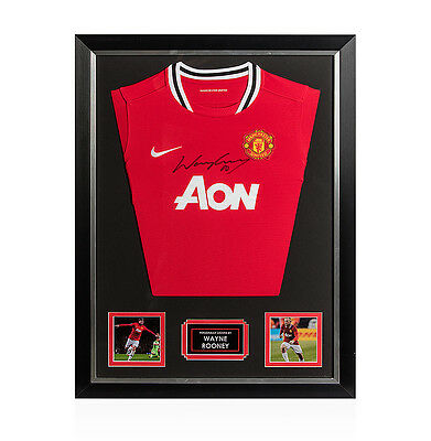 Framed Wayne Rooney Signed Manchester United Shirt- 2011/2012 Autograph