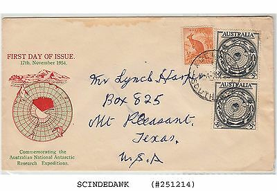 Australia 1954 - Australian National Antarctic Research Expedition- 2 +1 V- Fdc