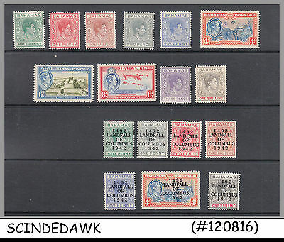 Bahamas - 1938-42 Selected Kgvi Stamps - 17V - Mint Nh