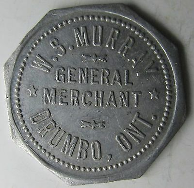 Canada, Ontario, Drumbo, W.S.MURRAY GENERAL MERCHANT Good For 25c Trade Token