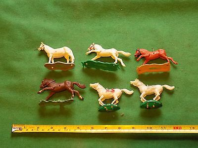 vintage lot of horses x 6,Timpo,herald,unknown brand
