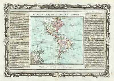 1786 Brion de la Tour Map of South America and North America