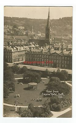 Somerset Bath View from Empire Hotel Real Photo Vintage Postcard 13.9