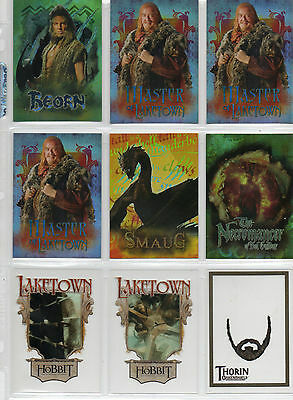 The Hobbit - Desolation Of Smaug - Lot Of 22 Chase Cards NM Cryptozoic