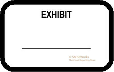 EXHIBIT Labels Stickers White  492 per pack