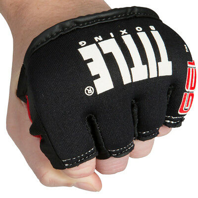 Title Boxing Gel Iron Fist Slip-On Custom Form Fit Knuckle Shields - Black
