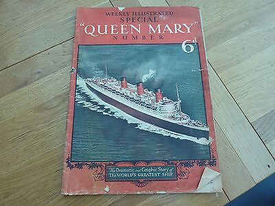 1936 Weekly Illustrated Special Rms Queen May Liner Number Original Excellent