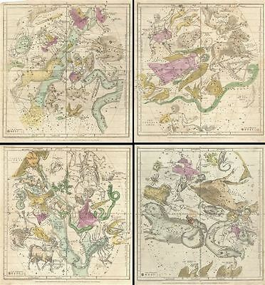 1835 Burritt - Huntington Map of the Constellations and Stars of the 12 Months (