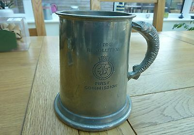 1968 Hms Resolution Nuclear Submarine First Commission Original Pewter Tankard