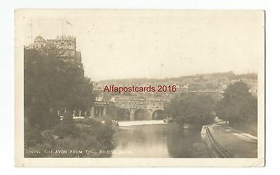 Somerset Bath The Avon from Toll Bridge Real Photo 1923 Vintage Postcard 4.11