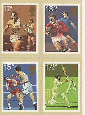 Great Britain - Sports - Phq47 Set Of 4 Post Cards - 1980