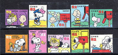 Japan: Excellent F/u Set Of 2014 ''snoopy Greetings'' Issue.