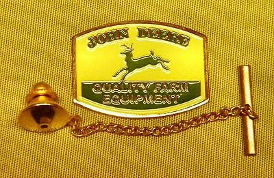 John Deere Tie Tack Pin and Chain Clasp
