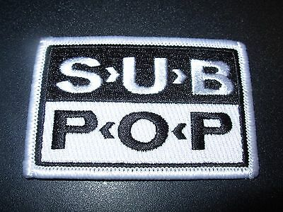 "SUB POP RECORDS Embroidered Patch CLASSIC SEATTLE LOGO 3.25"" pearl jam nirvana"