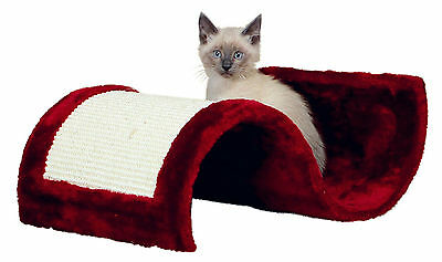 New Trixie Wavy Cat Scratching Wave - Brown Or Bordeaux - Plush & Sisal
