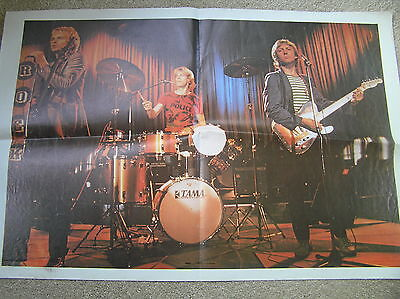 The Police Perfomimg On Stage Vintage Poster Early Photo