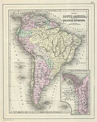 1887 Bradley Map of South America