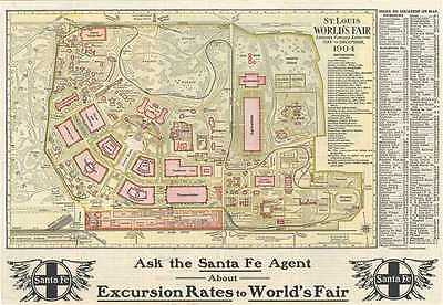 1903 Woodward Map  of the Louisiana Purchase Exposition, St. Louis, Missouri