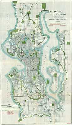 1911 Bogue Map or Plan of the City of Seattle, Washington