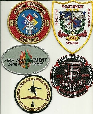 5 Company Fire Patches #30