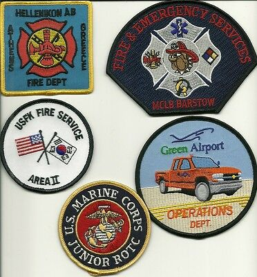 5 Military/ARFF Fire Patches #29