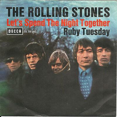 """7"""" Rolling Stones """" Let´s Spend The Night Together """" Waldcover"""