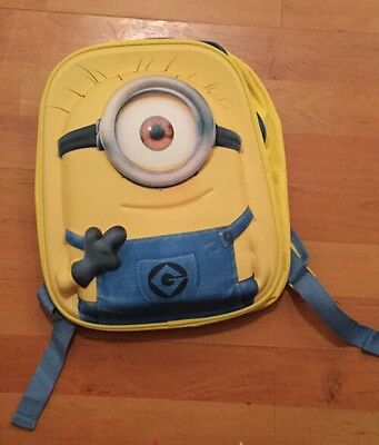 Minions yellow back pack Despicable Me