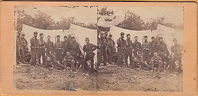 Civil War Stereoview~Picket Outpost, Camp Life, Army Of The Potomac~Penn. Unit?