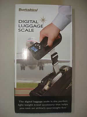 NEW Berkshire Digital Luggage Scale Weighs Luggage up to 40kgs/88lbs NIB