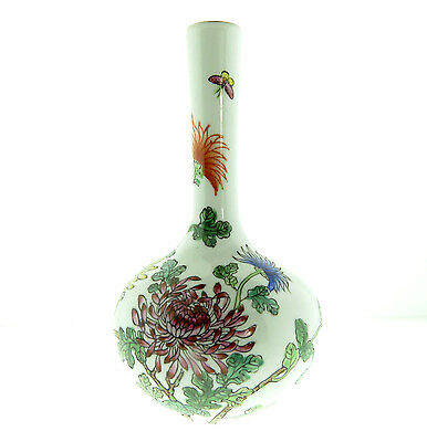 Vintage Porcelain Vase Chrysanthemum by Gumps Hand Painted 5.5 inch