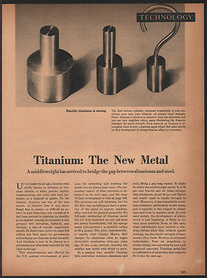 Technology MAY 1949 TITANIUM New Metal 6-page Fortune Magazine Article