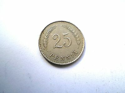 Early Ww11-25 Pennia Coin From Finland Dated 1939-Nice