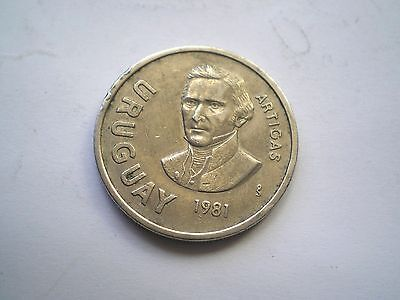 10 New Peso Coin From Uraguay-Dated 1981 Nice