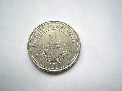 50 CENTAVOS COIN FROM NICARAGUA DATED 1997 high grade