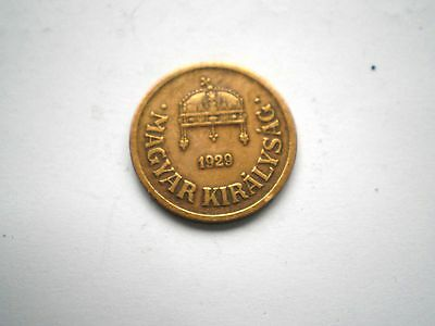 HARD TO FIND EARLY - 2 FILLER COIN FROM HUNGARY-DATED -1929-nice