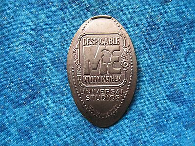 DESPICABLE ME MINION MAYHEM UNIVERSAL COPPER Elongated Penny Pressed Smashed 10k