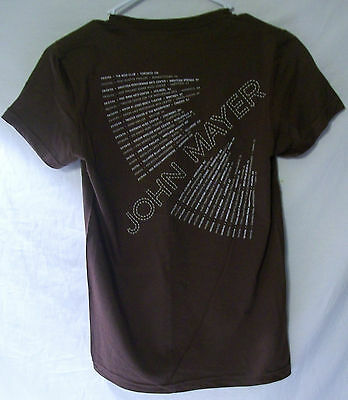 Brand New John Mayer 2006 Official Medium Youth Concert Tour Double Sided Shirt