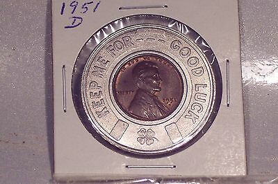 1951-D Encased Cent - Uncirculated Condition