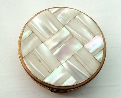 Vintage Kigu Pill Box With Mother Of Pearl Lid