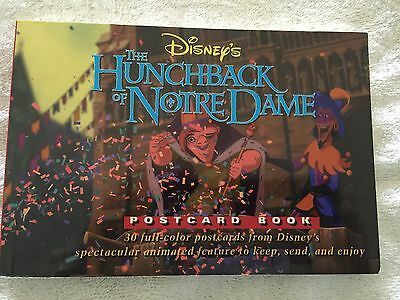 """Rare 1996 Disney First Edition """"hunchback Of Notre Dame"""" 30 Postcard Book - New"""