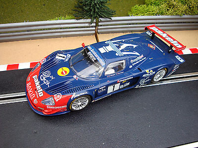 UNBOXED USED  SCALEXTRIC MASERATI MC12 No1 WITH WORKING LIGHTS
