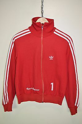 vtg 70s ADIDAS OLDSCHOOL CASUAL RETRO TRACK JACKET TRACKSUIT TOP SIZE D176 SMALL
