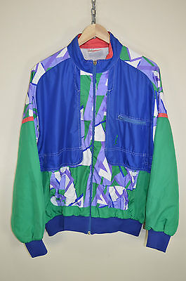 AUSTRALIAN BY L'ALPINA 80s CASUALS OLDSCHOOL SHELLSUIT TOP TRACK JACKET size M