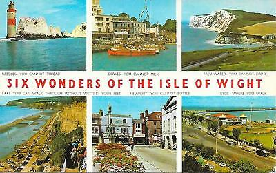 Six Wonders of the Isle of Wight - Posted Postcard